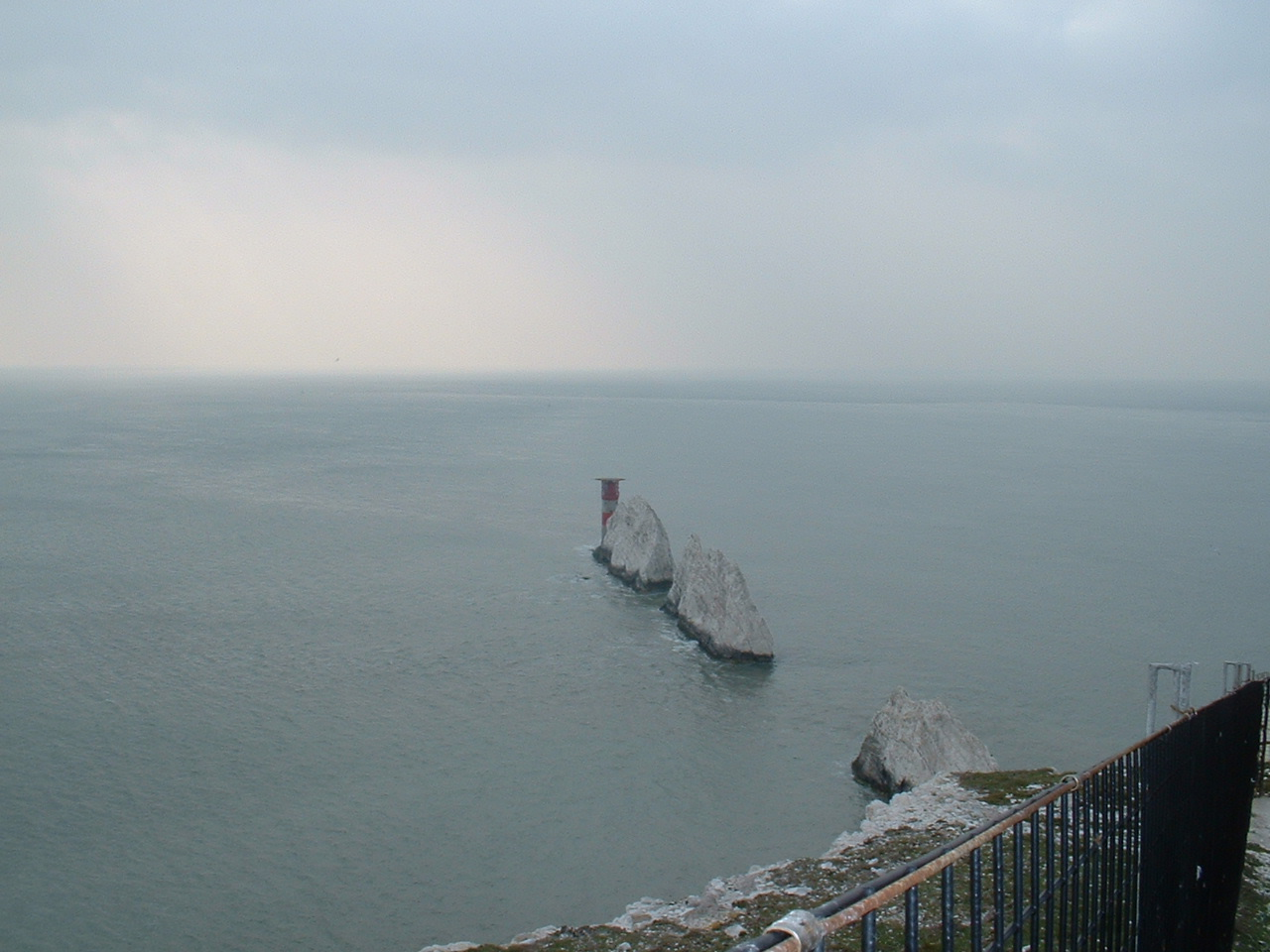 the needles rocks and lighthouse