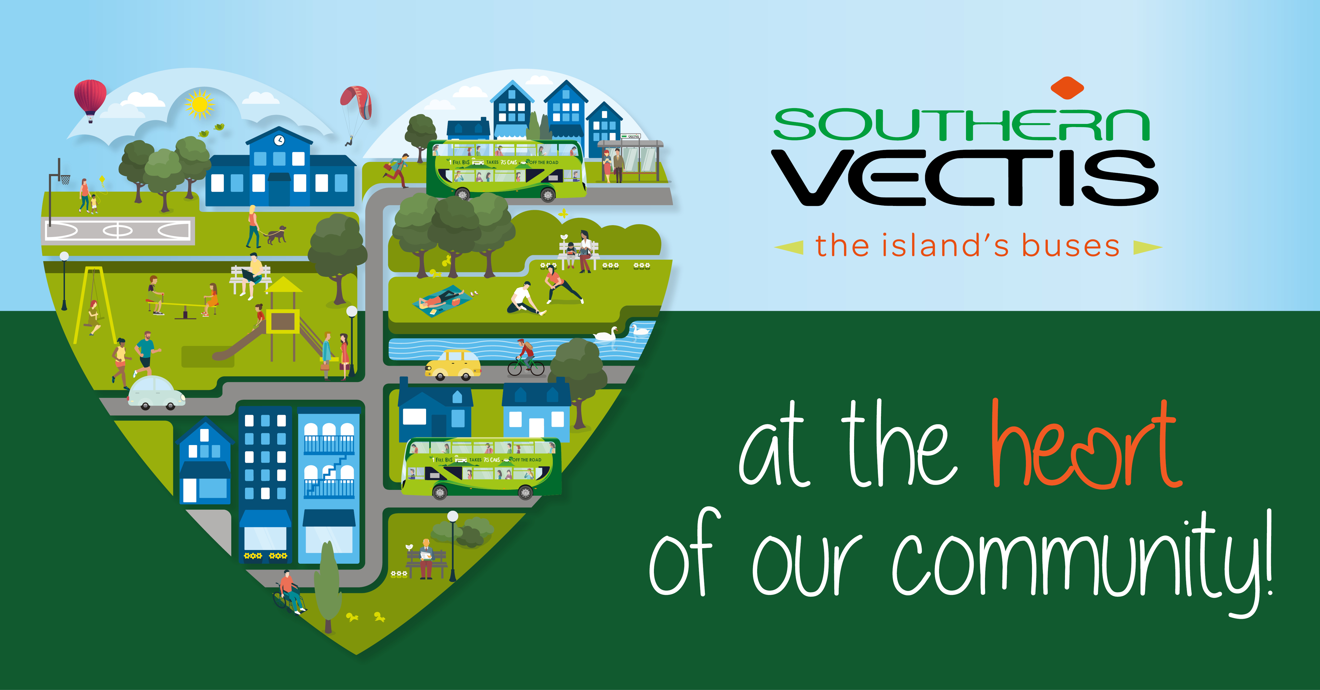 illustrated heart Southern Vectis community fund at the heart of our community!