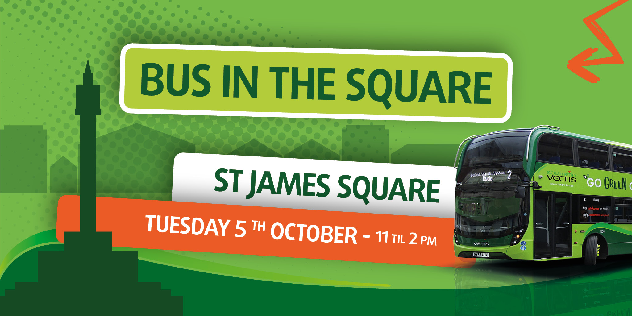 bus in the square