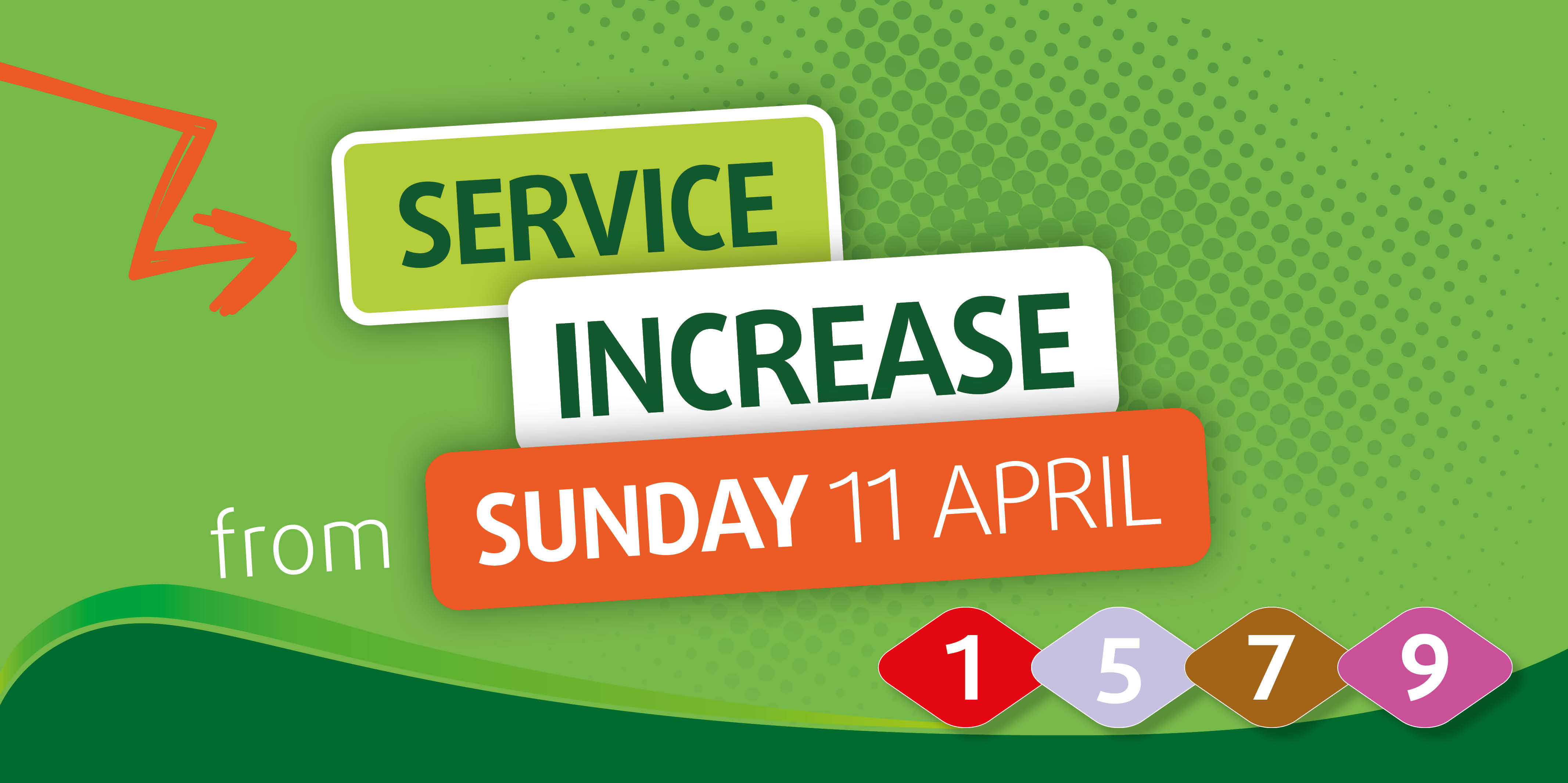 service increase from 11h april