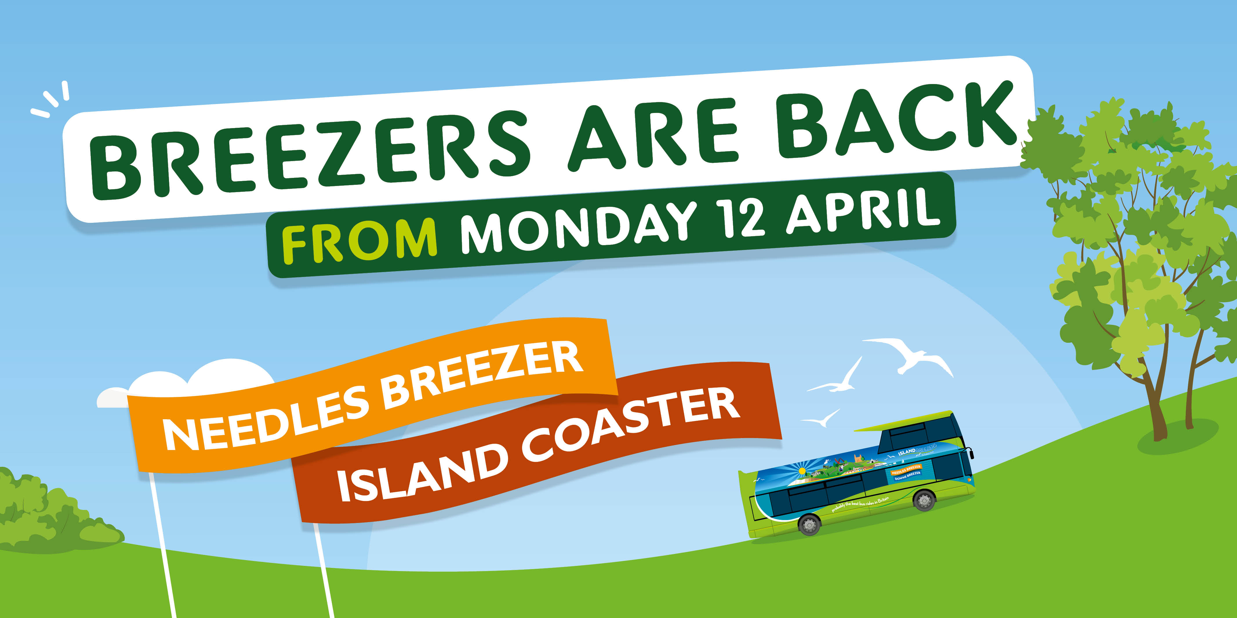 breezers are back from monday 12 april