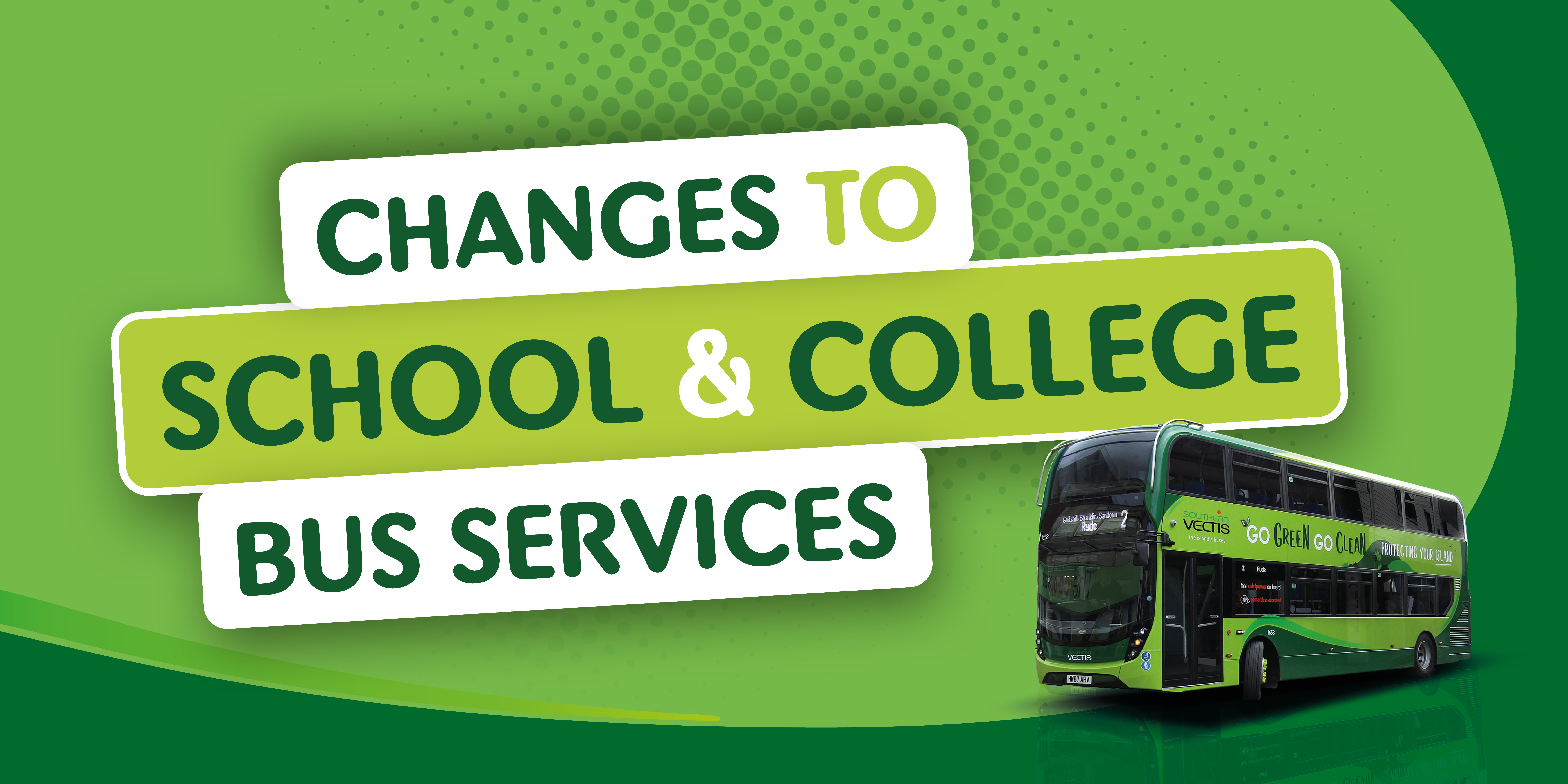 Changes to School & college Bus services