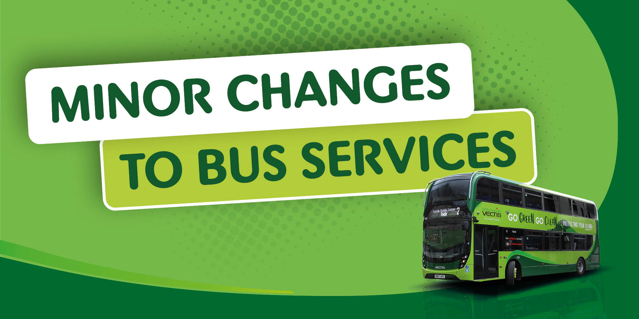 Minor changes to bus services and bus