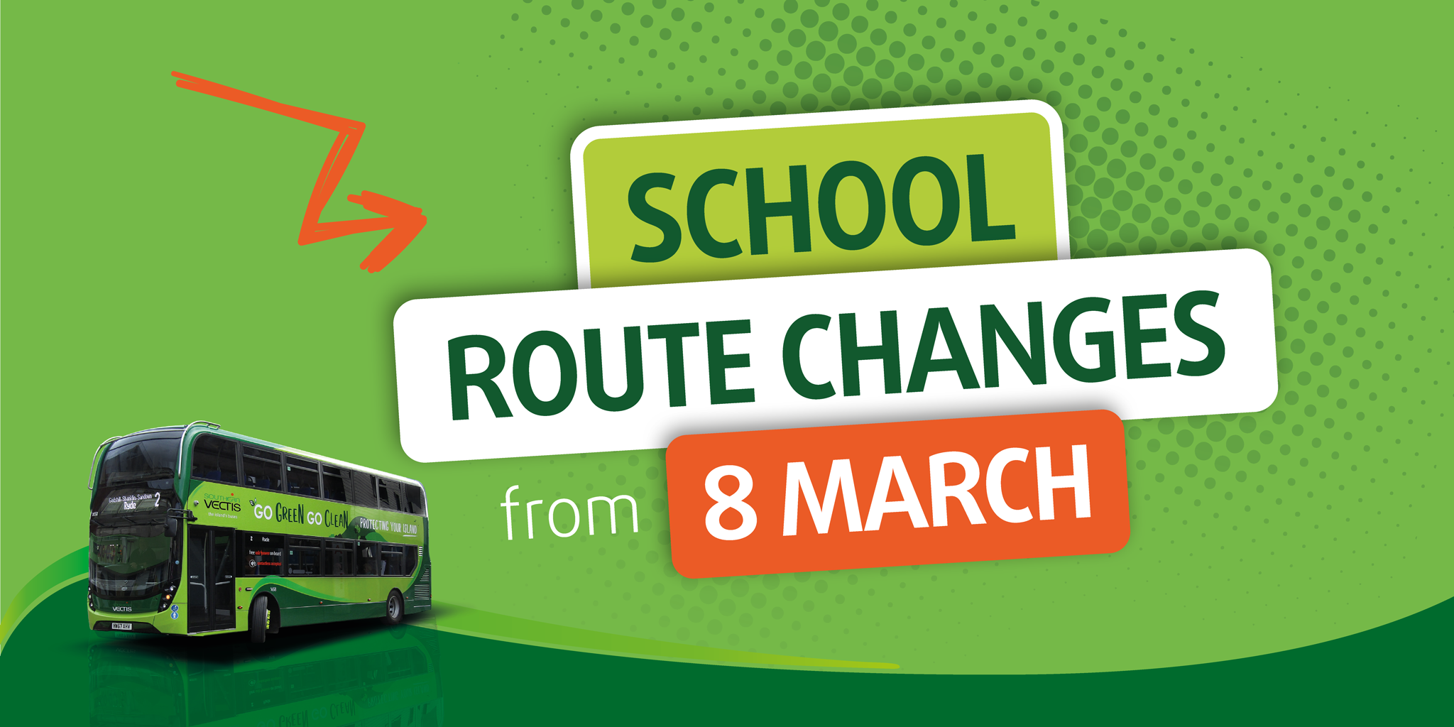 school route changes from monday 8th march