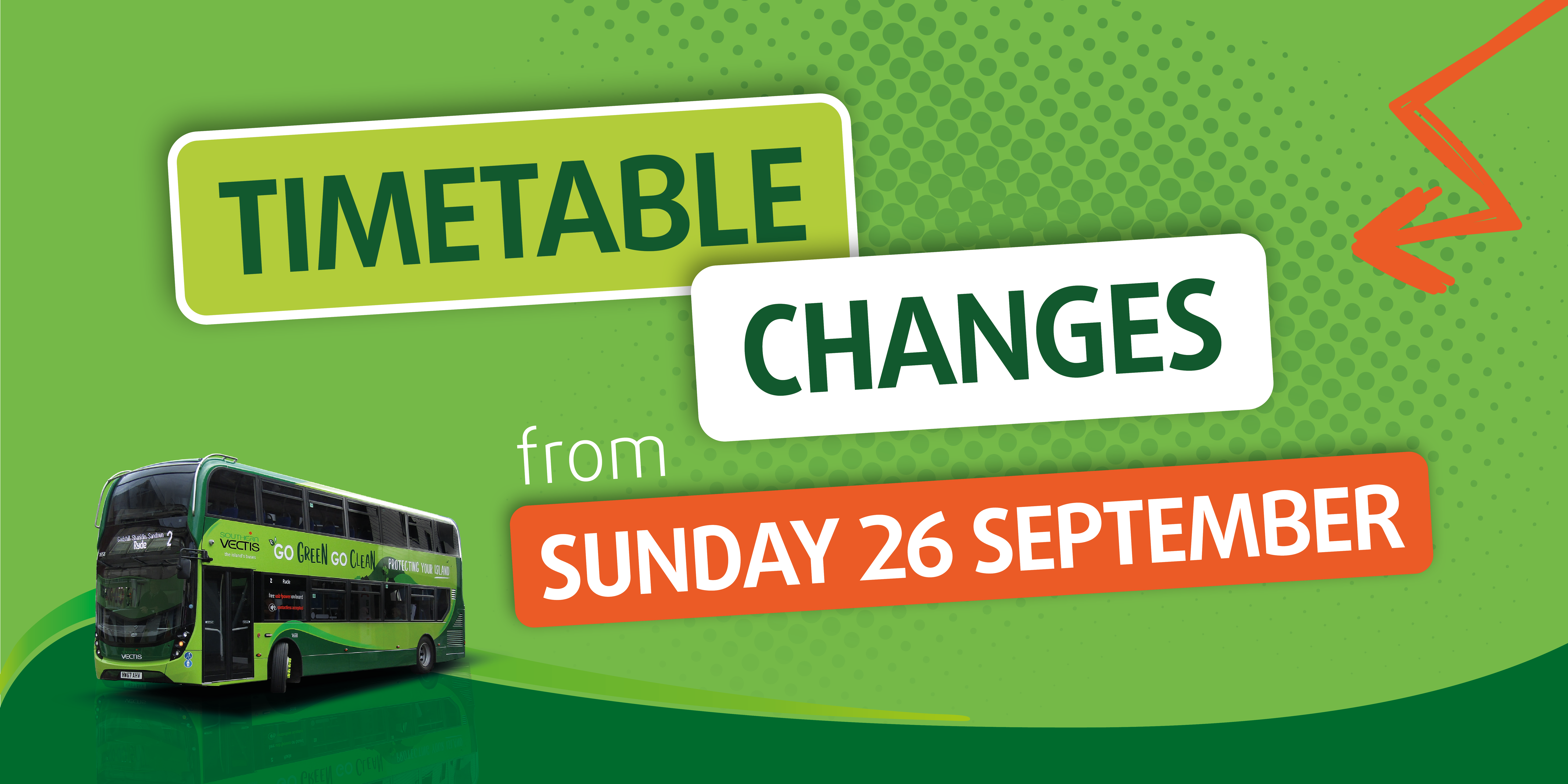 timetable changes from sunday 26 september