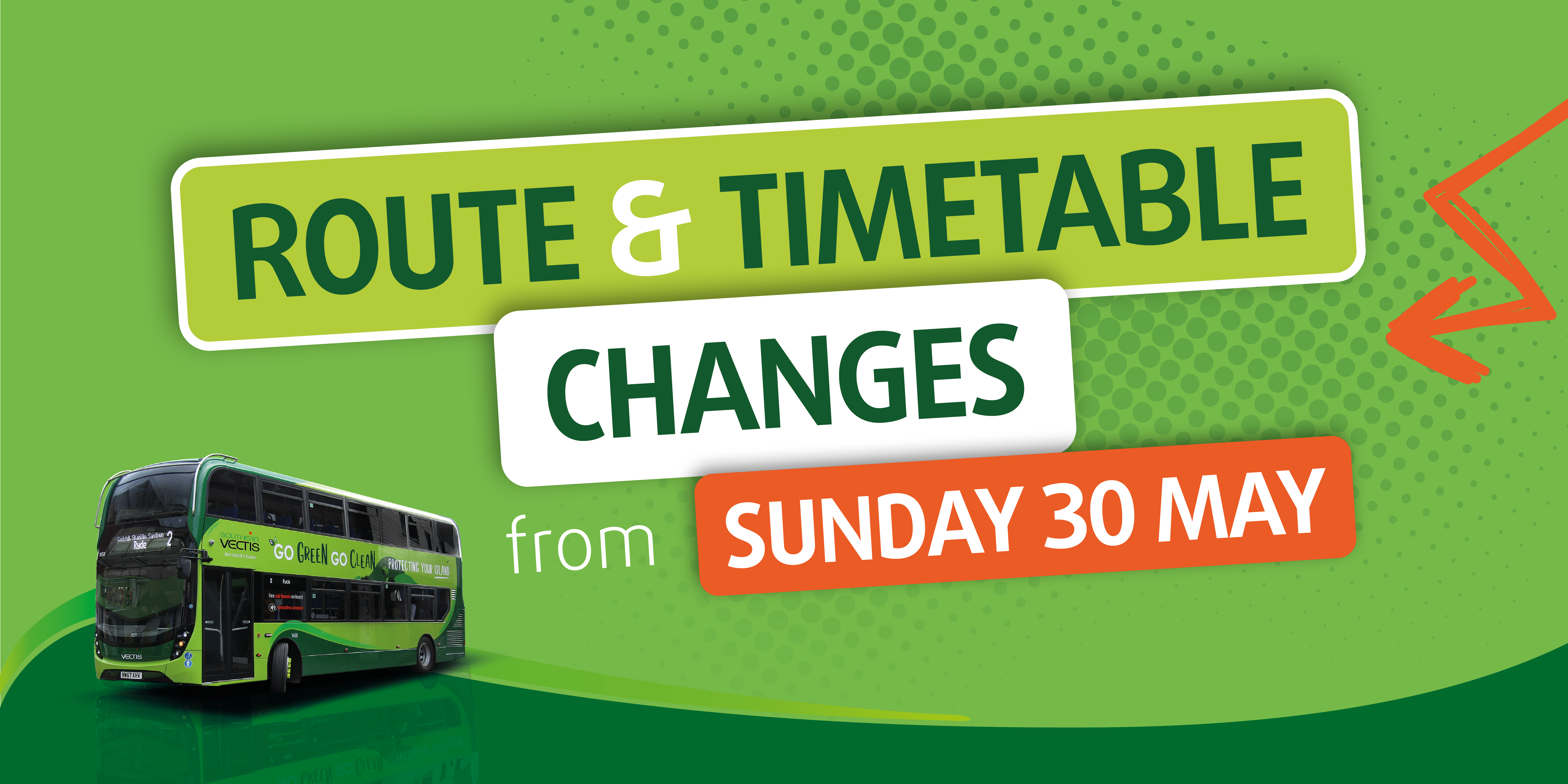 route & timetable changes from sunday 30 May